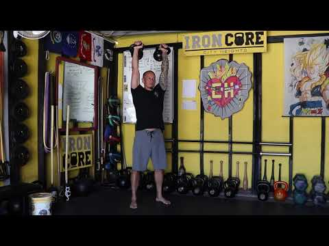 Double Kettlebell Squat to Overhead Press