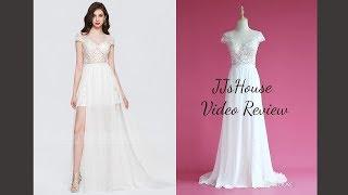 Chiffon Sweep Train Prom Dress With Sexy Split - JJs House