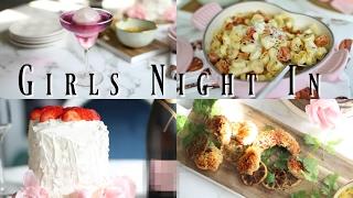 DIY Girls Night In - Coconut Shrimp No Bake Cake & Wine - MissLizHeart