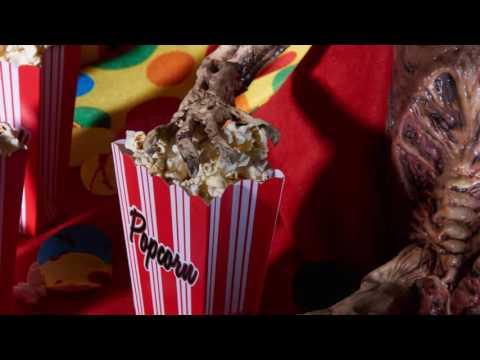 Rezept blutiges Popcorn für Halloween