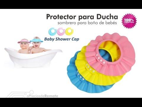 Gorro Visera de Ducha para Baño Bebé Niño Protege sus Ojos del shampoo - aPreciosdeRemate