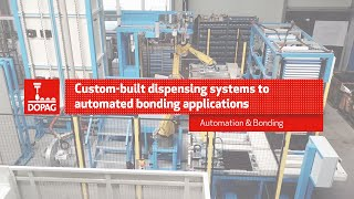 Custom-built dispensing systems to automated bonding applications