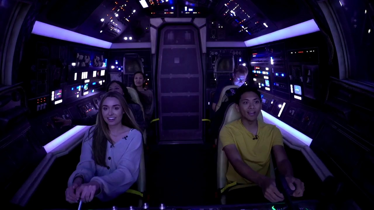 Onboard Millennium Falcon Smugglers Run at Star Wars Galaxy's Edge
