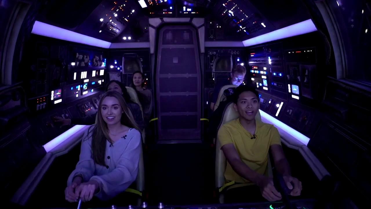 Onboard Millennium Falcon Smugglers Run at Star Wars Galaxy's Edge