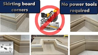 How to cut skirting board or baseboard corners. No power tools required!