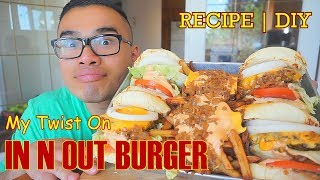 My Twist On IN N OUT BURGER | MUKBANG | DIY | QT