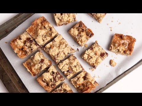 Caramel Chocolate Oatmeal Bars Recipe – Laura Vitale – Laura in the Kitchen Episode 921
