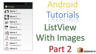 #80 Android ListView With Image Part 2: Android Application Development Tutorial [HD 1080p]