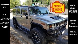 How To Install Oxygen O2 Sensor Driver Side On HUMMER H2 | Error Code P0153