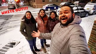 WE EXPERIENCED A SNOW STORM IN NEW YORK!!!