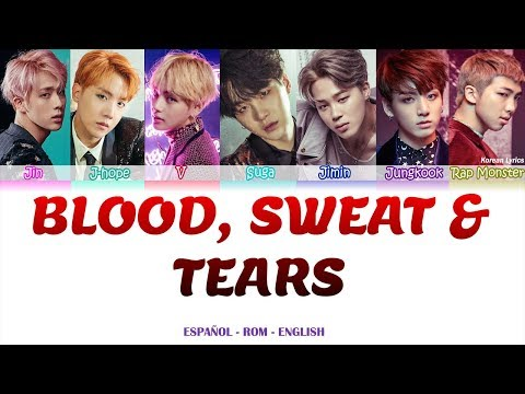 BTS - Blood Sweat & Tears Lyrics Español- Rom -English