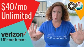 Verizons LTE Home Internet - $40/month Unlimited Data - Is It Mobile For RVers & Boaters??