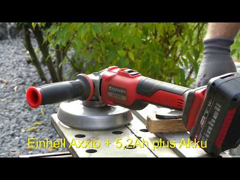 Einhell Akku Winkelschleifer 18V Axxio BL - Test - Vergleich vs Makita DGA504