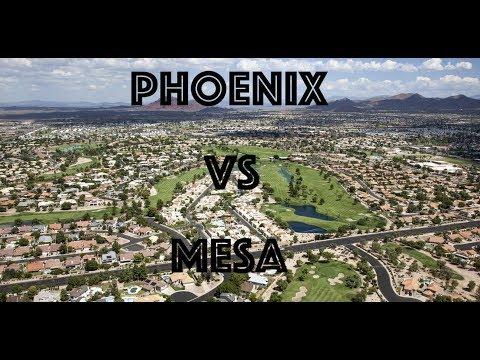 Comparing Phoenix and Mesa Arizona 2019