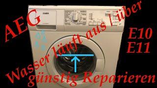 AEG Lavamat läuft über ... 5468DFL E10 / E11 ( Waschmaschine für ein paar Cent reparieren )