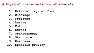 10 Physical Characteristics / Properties Of Minerals