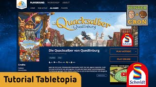 """Brettspiele spielen auf Tabletopia am Beispiel von """"Die Quacksalber von Quedlinburg"""""""