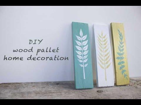 WOOD PALLET DIY / Decorazioni in legno fai da te