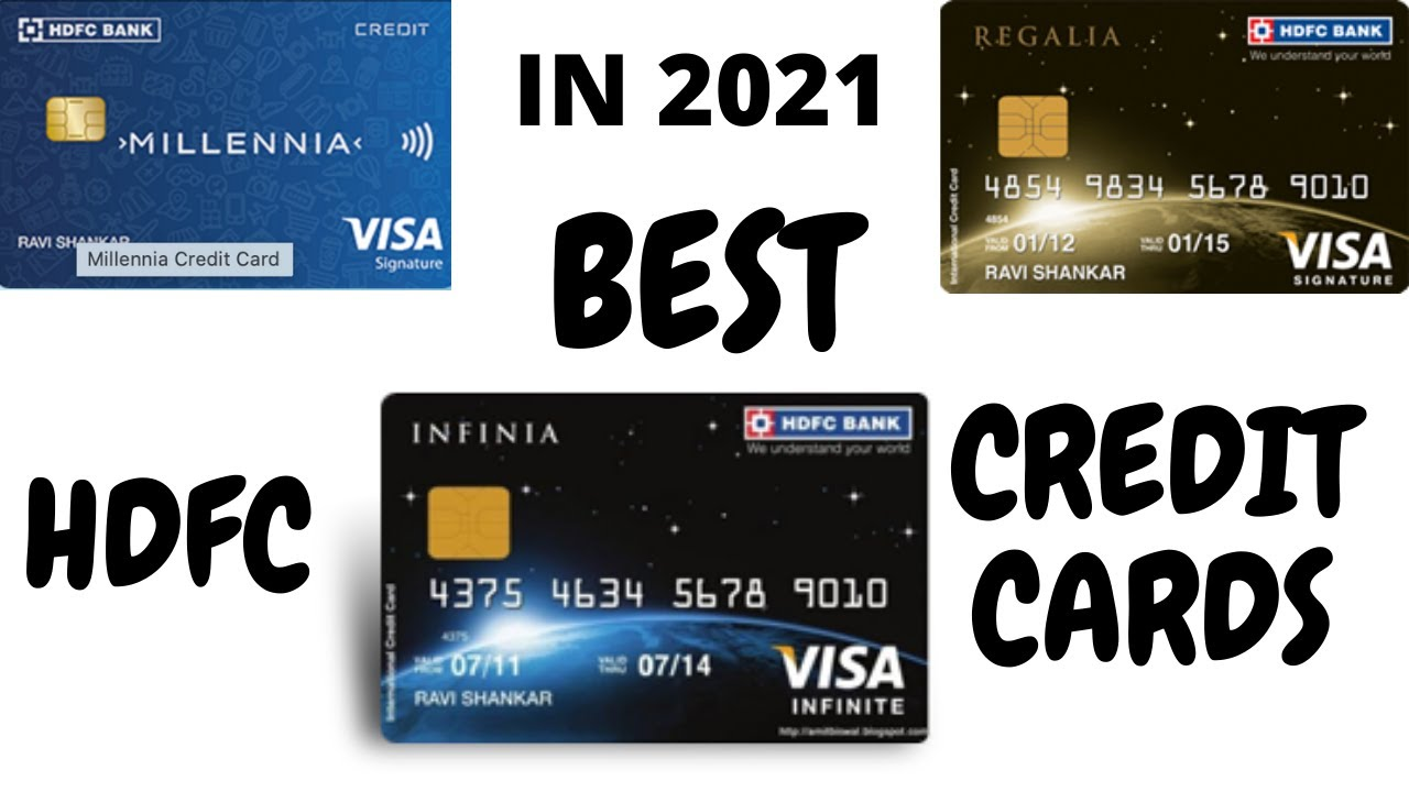BEST HDFC CREDIT CARDS IN 2021|HDFC MILLENIA CHARGE CARD|HDFC REGALIA CHARGE CARD|HDFC INFINIA thumbnail