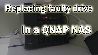 How to replace a faulty drive in a QNAP