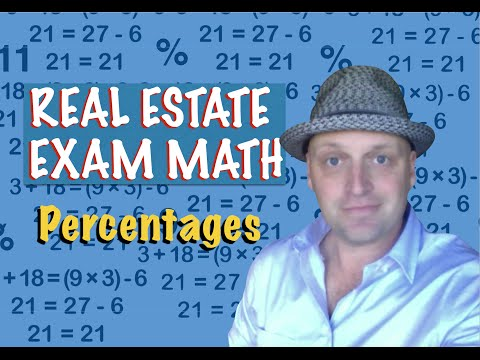 Real Estate Exam Math / Percentages - YouTube