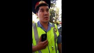 Сотрудники Полиции Шымкента нарушают условия безопасности дорожного движения!