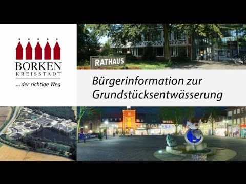 Stadt Borken - Bürgerinformation zur Grundstücksentwässerung