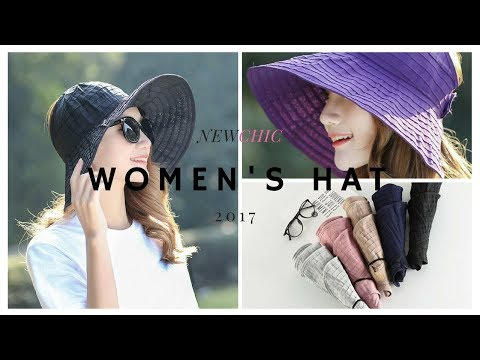 Summer Foldable hats for men & women| NEWCHIC summer lookbook  women hat styles