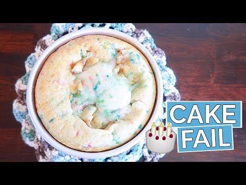 CAKE SMASH FAIL!