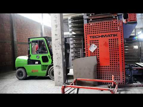 Transportable racks sytem -- Techmatik semi automatic production line - zdjęcie