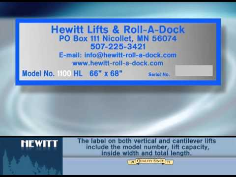 Where to Locate the Boat Lift Label, What's Included on it