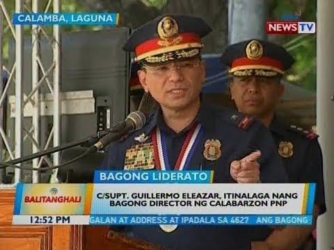 [GMA] BT: C/Supt. Guillermo Eleazar, itinalaga nang bagong director ng Calabarzon PNP