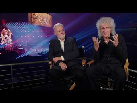 Bohemian rhapsody brian may  amp  roger taylor behind the scenes interview