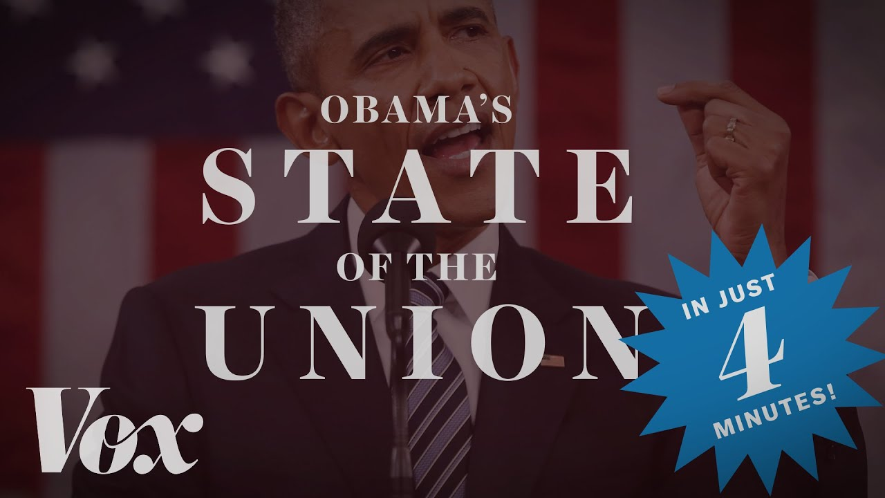 Obama's 2016 State of the Union, in four minutes thumbnail