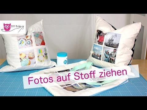 Kissen & Beutel nähen und mit Fotos beziehen // VERLOSUNG!!!