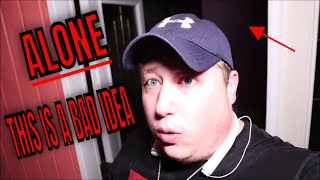 """(30 MIN ALONE CHALLENGE) 3AM ROB ALONE AT """"THE OCTAGON HOUSE"""" ....TERRIFYING******"""