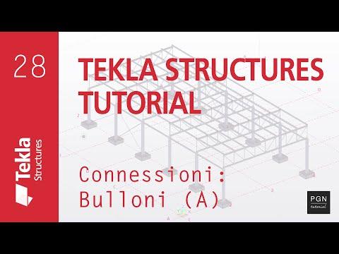 Tekla Structures Tutorial #28 (ITA) - Connessioni | Bulloni A (Bolts A)