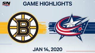 NHL Highlights | Bruins vs Blue Jackets – Jan. 14, 2020