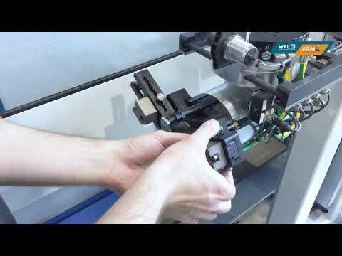 WFL Robotic Technologies - Backenschnellverstellsystem in einer M30-G MILLTURN