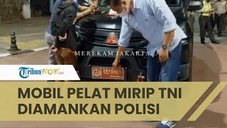 Akan Tabrak Polisi saat Diberhentikan, Sopir Mobil Berpelat Dinas Mirip TNI Ditangkap