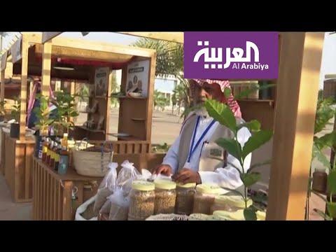 العرب اليوم - شاهد : أهالي جازان يستعرضون ثقافة إعداد وتحميص البن أمام زوار الشارع الثقافي