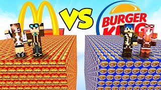 LUCKY BLOCK del MCDONALD'S contro BURGER KING! - Lyon & Anna VS Stef & Phere