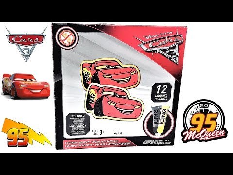 How To Decorate Kids Cars 3 Lightning McQueen Cookies Decorating -  Disney Pixar Cars 3