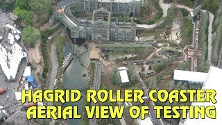 Aerial View Of Testing For Hagrids Magical Creatures Motorbike Adventure