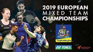 Denmark (Christiansen/Pedersen) vs Netherlands (Piek/Tabeling) -SF- European Mixed Team C'ships 2019