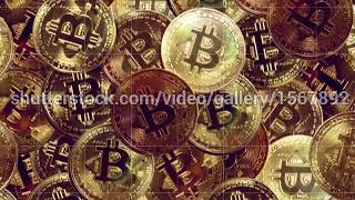Bitcoin Looped Background. Cryptocurrency || 4K Stock Footage