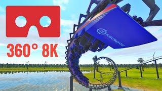 [360 VR Video 8K] Roller Coaster 360° Looping Google Cardboard Virtual Reality 3D SBS Corkscrew