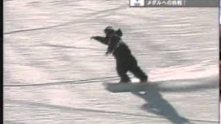 snowboardソルトレイク五輪ハーフパイプ男子決勝中井孝治2本目