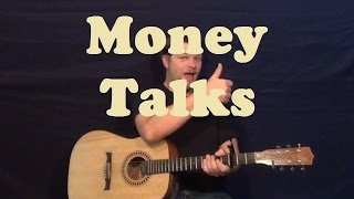 Money Talks (AC/DC) Easy Guitar Lesson Strum Chords Licks How to Play Tutorial