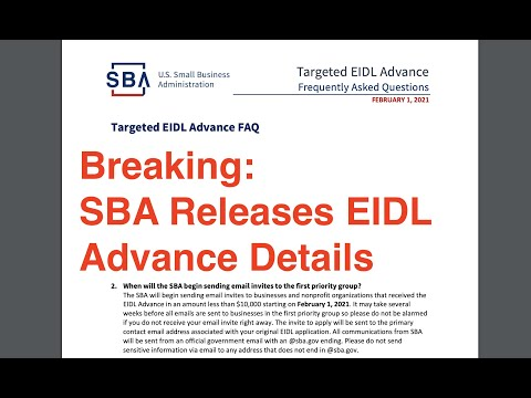 Breaking News: EIDL Grant Timing and Eligibility Updates Directly From SBA